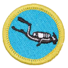 Boy Scouts can earn their scuba merrit badge through MidWest School of Diving in White Bear Lake, MN, just north east of the Twin Cities of Minneapolis and St. Paul.