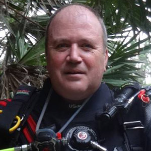 Mark Dugger, owner of Midwest School of Diving and scuba instructor.