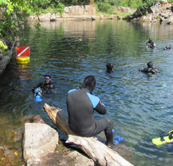 PADI Dive Master Certification through the White Bear Lake, MN base MidWest School of Diving, serving the Twin Cities as well as the greater Minnesota and Wisconsin areas
